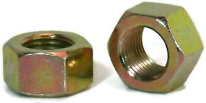 Zinc Plated Grade 8 Steel Hex Nuts Yellow Finished Nuts - 14