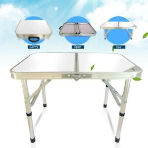 Used Aluminum Folding Table Indoor Outdoor Picnic Party Dining Camp Table US