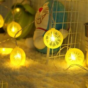 Novelty Lemon Fairy String Lights With 20 Led, Battery Operated Warm White Twink