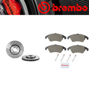 Brembo Front Brake Rotors & Ceramic Brake Pads For 2015-17 Mercedes-Benz CLS400