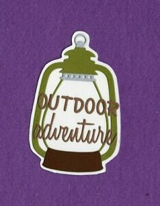 OUTDOOR ADVENTURE camping title die cuts scrapbook cards