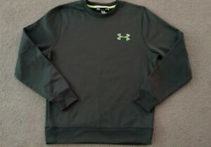 Mens Under Armour Coldgear Loose Fit Crewneck Sweatshirt Marine Green Small