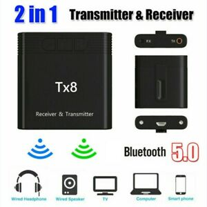 Tx8 2 in 1 Bluetooth 5.0 Transmitter Receiver Audio Adapter for TV PC MP3 MP4