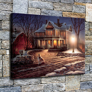 10x16 villa HD Canvas Print Home decor painting