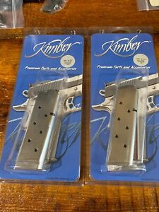 TWO KIMBER 1911 .45 ACP 8 Round Full-Length MAGAZINES SS 1000133A FAST SHIP