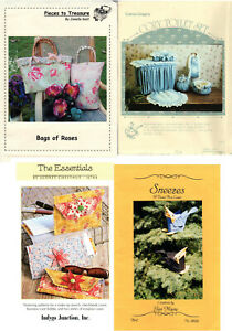 CHOICE: Craft Patterns for Sewing Bags Bathroom Decor Clutches Tissue Box Cover $8.99