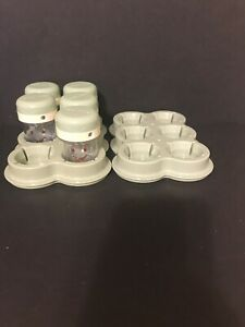 Magic Baby Bullet  Processor Replacement Parts 5-Date Dial Cups w/Lids + 2 trays