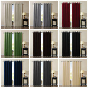 Chezmoi Collection Solid Grommet Thermal Insulated Blackout Curtain Window Panel $21.99