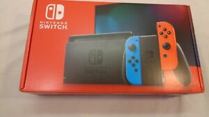 Nintendo Switch 32GB Gray Console with Neon Red and Neon Blue Joy-Con - NEW ~!