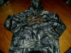 UNDER ARMOUR YOUTH Sweatshirt HOODIE CAMO~HUNTING SZ L POLYESTER~CAMOUFLAGE