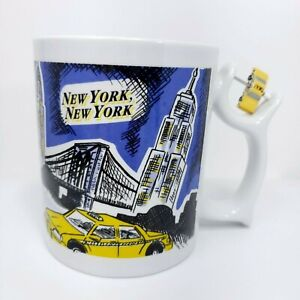 Vintage Spinners New York City Taxi Cab Cup Mug