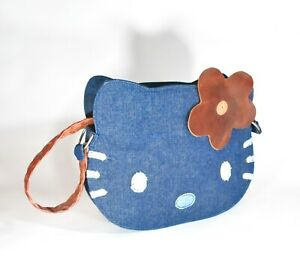 Vintage HEATHERETTE Hello Kitty Hand Shoulder Bag Purse DENIM Prototype Sample