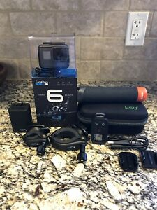 GoPro HERO 6 Black Action Camera w Extra Battery and Lot of Official Accessories