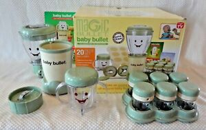 MAGIC BULLET BABY BULLET COMPLETE BABY FOOD MAKING SYSTEM in ORIGINAL BOX
