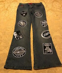 Women#x27;s Juniors Le More Jeans Size 9 NFL Teams Raiders Chicago Houston Oakland