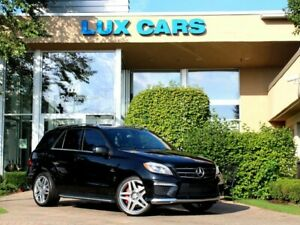 2013 Mercedes-Benz M-Class AMG PANOROOF NAV 4MATIC 2013 Mercedes-Benz ML63 AMG PANOROOF NAV 4MATIC 70907 Miles Obsidian Black Metal