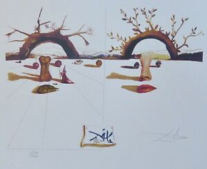 SALVADOR DALI Patient Lovers HAND NUMBERED PLATE SIGNED LITHOGRAPH $189.00