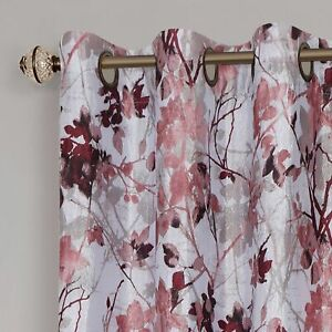100% Thermal Lined Grommet Floral Blackout Curtains Assorted Sizes amp; Colors $32.99