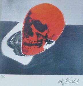 ANDY WARHOL SKULL RED SIGNED + HAND NUMBERED 41585000 LITHOGRAPH $198.00