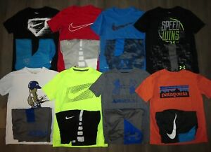 Lot 16 Boy's UNDER ARMOUR NIKE Dri-Fit T-Shirts Athletic Shorts YMD Medium 1012