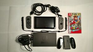 Excellent Used Nintendo Switch Bundle w Super Mario Odyssey Game