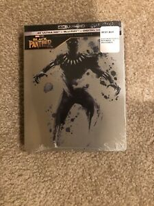 Black Panther(4k Ultra HD+Bluray+Digital)Bestbuy Exclusive SteelBook-Brand New
