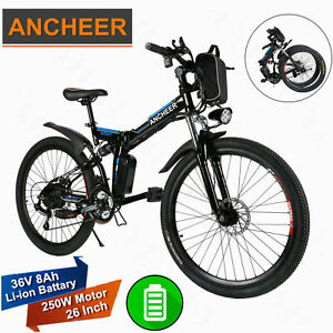 Ancheer 26'' EBike Electric Bike Mountain Bicycle City Cycling 21 Speed 36V 250W