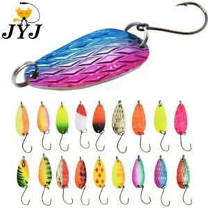 10pcs 3g fishing tackle bait fishing metal spoon lure bait for trout bass
