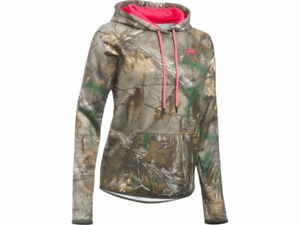 UNDER ARMOUR CAMO WOMEN Sz LARGE REALTREE PINK HOODIE #1286056 946 NWT $74.99