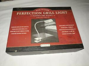 New Restoration Hardware Dusk to Dawn Perfection Grill Light BBQ Silver