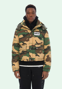 100% Authentic OFF-WHITE co ABLOH Camo Puffer Down Jacket Medium (Retail $2250)