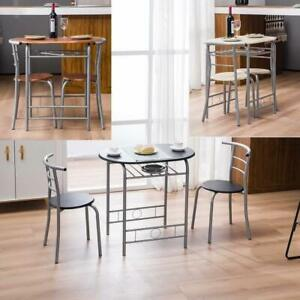 Hot Style Dining Set Table and 2 Chairs Breakfast Bistro Desk and Chairs 5 Color