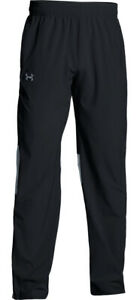 New Under Armour Squad Woven Warm-Up Pants 1293912 Black Men's 2XLT  4XL $60