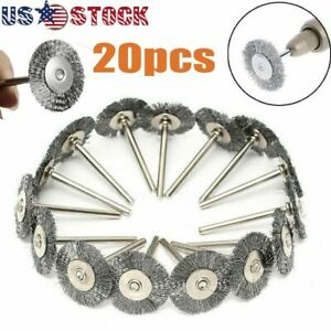 20pc Stainless Steel Wire Brush Fit Dremel Rotary Tool Die Grinder Removal Wheel $7.51
