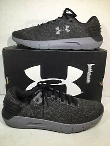 Under Armour Mens Size 10.5 Charged Rogue Twist Black Running Shoes F12-468