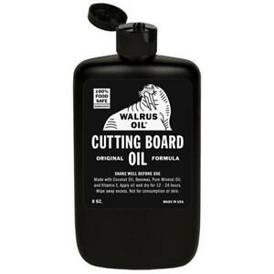 WALRUS OIL - Cutting Board Oil 8oz, Food-Safe Finish for Wooden Butcher Blocks