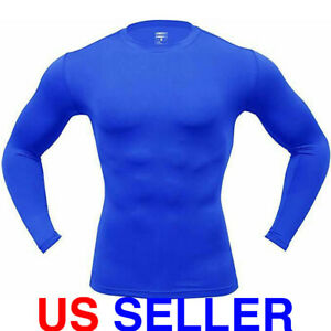 ARMEDES Men's Long Sleeve T Shirt Baselayer Cool Dry Compression Top AR 52 $10.99