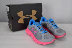 Girl's Under Armour 1266321 GPS ASSERT 6 Running Shoes Steel Pink 3y