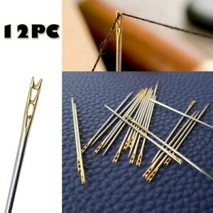72PCS Thick Big Eye Sewing Self Threading Needles Embroidery Hand Sewing Simple $6.39