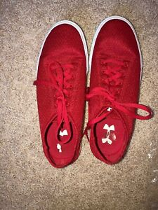 Red Under Armor Shoes Size 7 $25.00