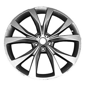 Remanufactured 21X9 Alloy Wheel 5 Double Spokes Bright Silver Metallic Painted