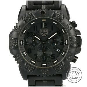Luminox 3081 Blackout Navy Seal Colormark Shields Color Mark Carbon Case