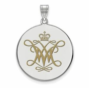 SS William And Mary XL Enamel Disc Pendant