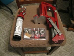 Hornady lock n load Iron Press with powder drop & 6 inserts