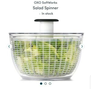 OXO  Good Grips Salad Spinner Soft Works Clear Full Size