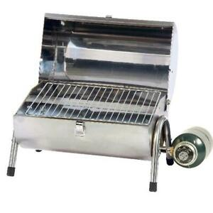 Propane BBQ Grill Stainless Steel Portable Outdoor Cooking Tailgating Stansport