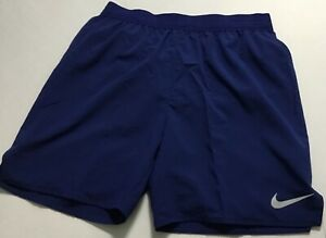 "Nike Men's Flex Stride 7"" Brief Lined Running Shorts AT4014 Navy Blue 492 Size L $32.99"