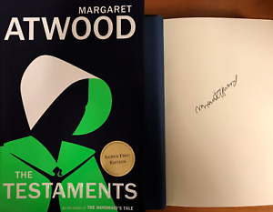 MARGARET ATWOOD SIGNED*THE TESTAMENTS*HCDJ 1ST 1ST WINNER OF THE BOOKER PRIZE