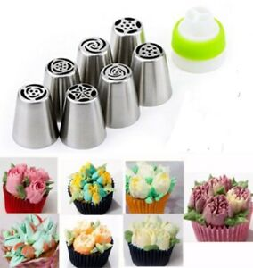 7Pcs Russian Flower Icing Piping Nozzles Pastry Tips Cake DIY Baking Tools Set