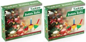 Tupkee Christmas Replacement Bubble Lights – 3 Multi Color Light Bulbs 2 Pack
